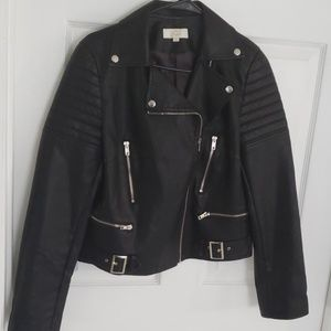 Missguided  Black/silver Moto Jacket NWOT L